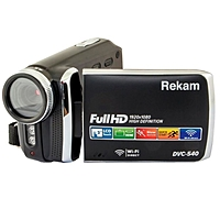 "Видеокамера Rekam DVC-540, IS el 3"", 1080 p, SD+MMC Flash/Flash, черная"