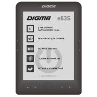 "Электронная книга Digma E63S, 6"", E-Ink Carta, 800x600, 600 MГц, 4 Гб, темно-серая"