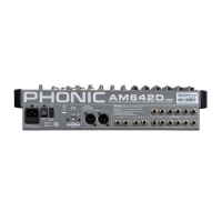 Микшерный пульт Phonic AM642D USB , 6 моно мик/лин вход + 4 стереовхода, 2 подгруппы